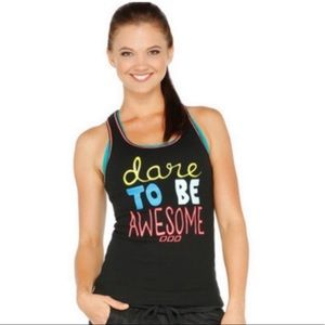 Dare to be AWESOME Lorna Jane tank 💪🏻